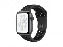 APPLE Watch Nike+ Series 4, 40 mm, pouzdro z vesmírně šedého hliníku a antracitovým/černým sportovním řemínkem