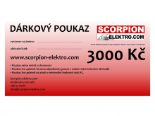 Dárkový poukaz 3000 Kč