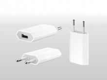 Mini USB nabíječka pro Apple iPhone, iPod (1A), bílá