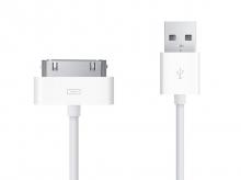 Synchronizační a nabíjecí kabel, 30pin konektorem pro Apple iPhone, iPad, iPod, 1m, bilý
