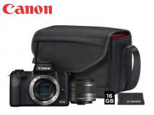 CANON EOS M50 Black + EF-M 15-45 mm + Value Up Kit