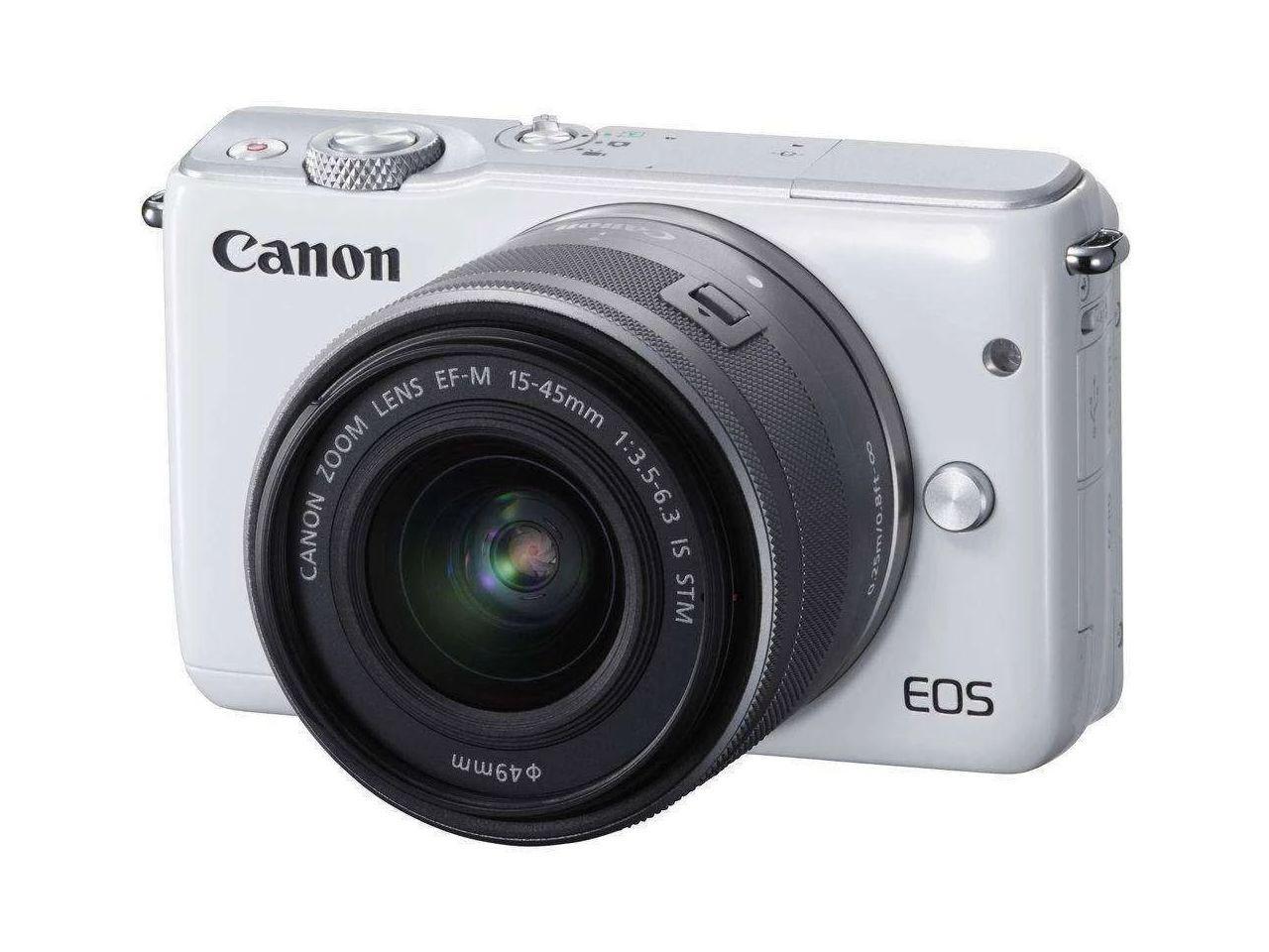 CANON EOS M10 + EF-M 15-45 IS STM White + 400 Kč na dárky nebo další nákup | CHAT on-line podpora PO-PÁ 8-22.00!!