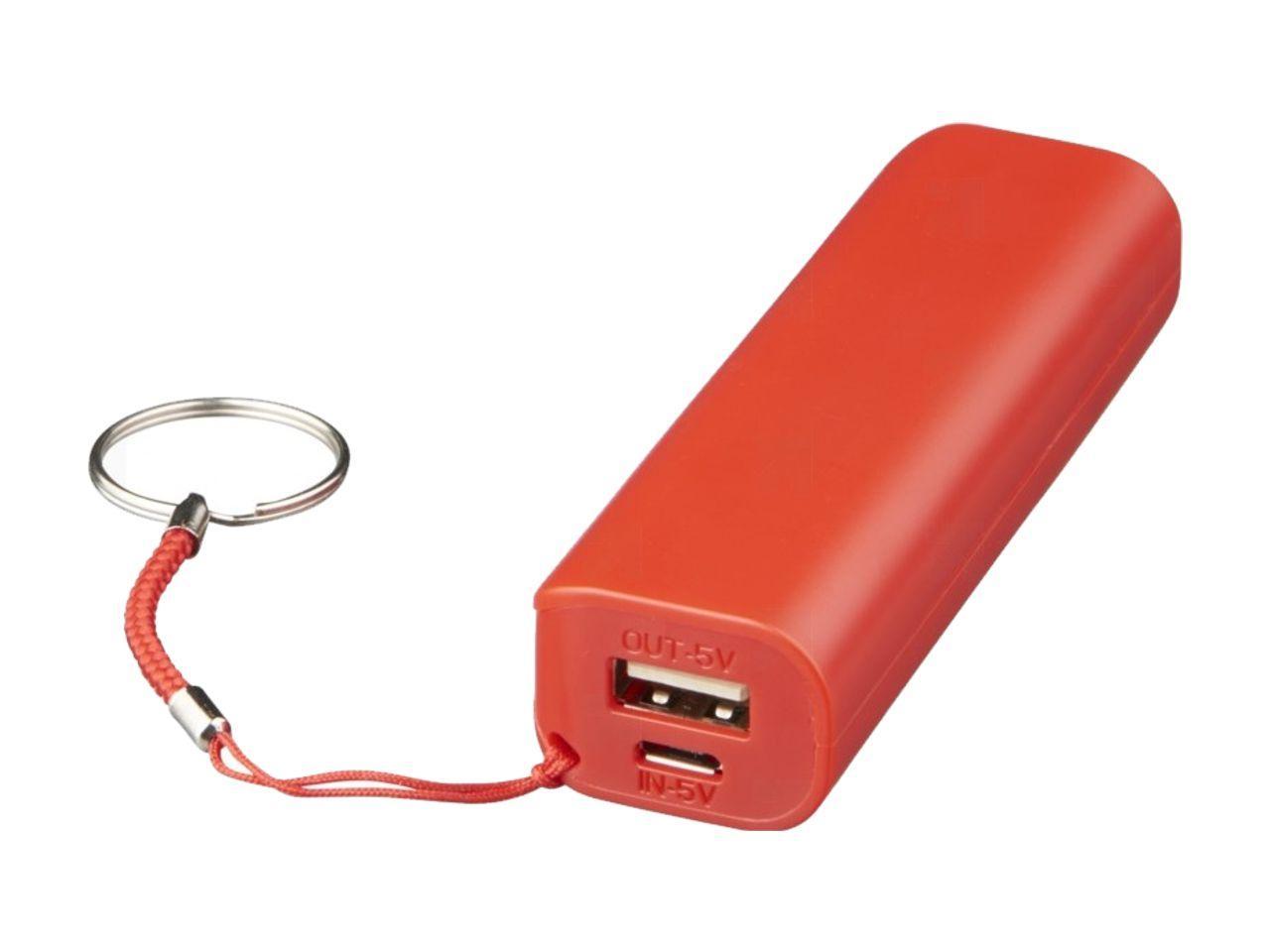Powerbanka Spencer Express s kroužkem na klíče, červená