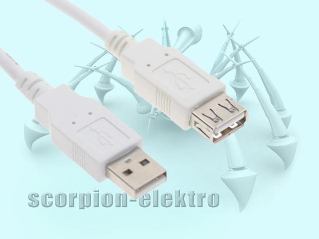 Kabel USB 2.0 PremiumCord A/A prodlužovací 0,5m