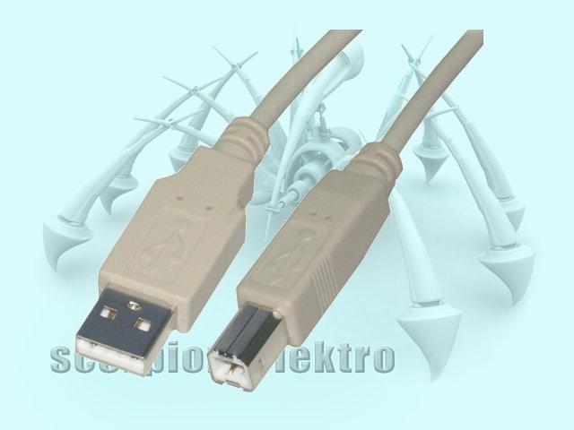 Kabel USB 2.0 A/B propojovací 1,8m