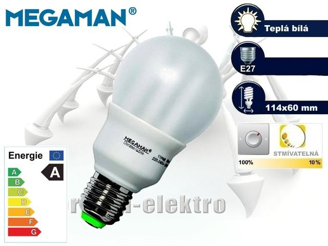 MEGAMAN Dimmerable 11W, E27   CHAT on-line podpora PO-PÁ 8-22.00!!