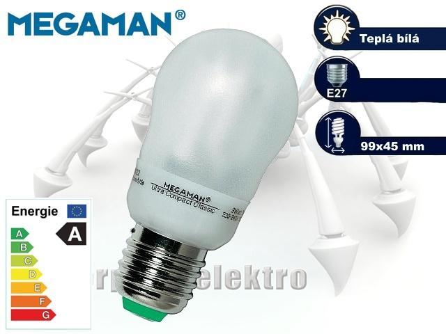MEGAMAN Ultra Compact 9W, E27   CHAT on-line podpora PO-PÁ 8-22.00!!