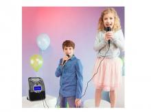 Karaoke reproduktor AUNA ScreenStar, černý, se sadou CD