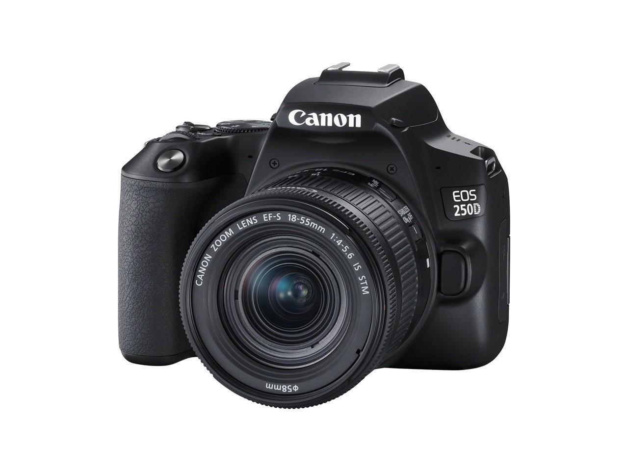 CANON EOS 250D + 18-55 IS STM, černý + 500 Kč na dárky nebo další nákup   CHAT on-line podpora PO-PÁ 8-22.00!!