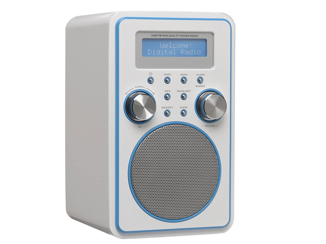 DENVER DAB-45 Plus, bílo-modrý + záruka 3 roky! | CHAT on-line podpora PO-NE do 23 hodin!!