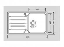 FRANKE Laser LSX 611, vanička vpravo + záruka 3 roky!