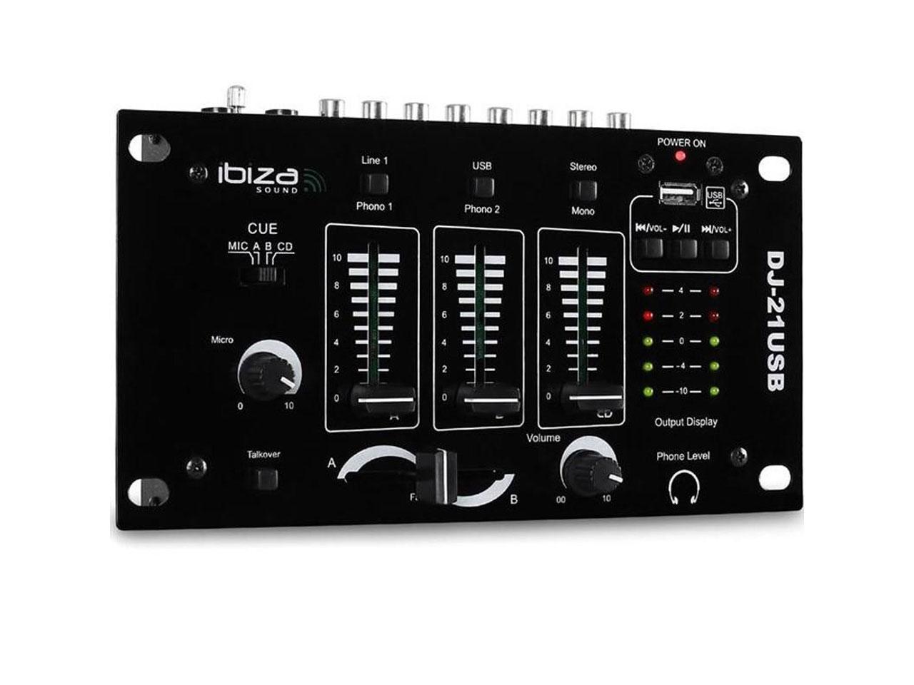 IBIZA DJ-21USB + záruka 3 roky!