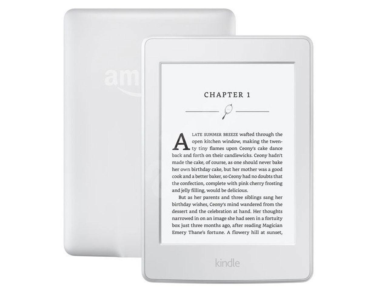 AMAZON Kindle Paperwhite 3, verze 2015, bílá, sponzorovaná verze