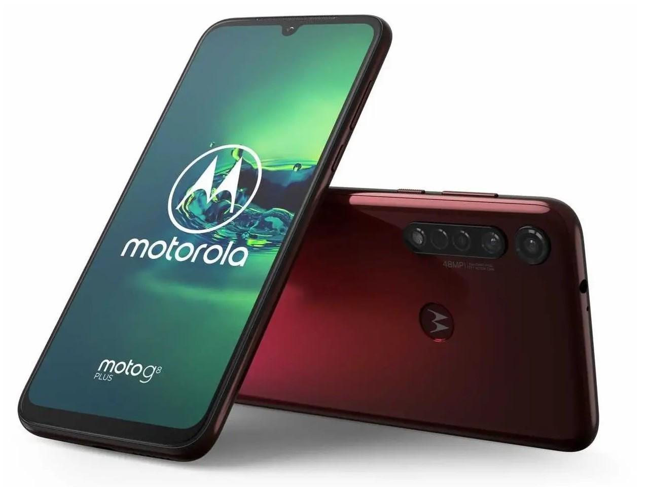 MOTOROLA Moto G8 Plus, 4GB/64GB, Dual SIM, růžový, CZ distribuce