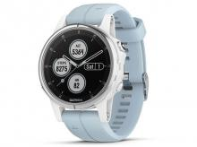 GARMIN Fenix5S Plus White, Seafoam Band