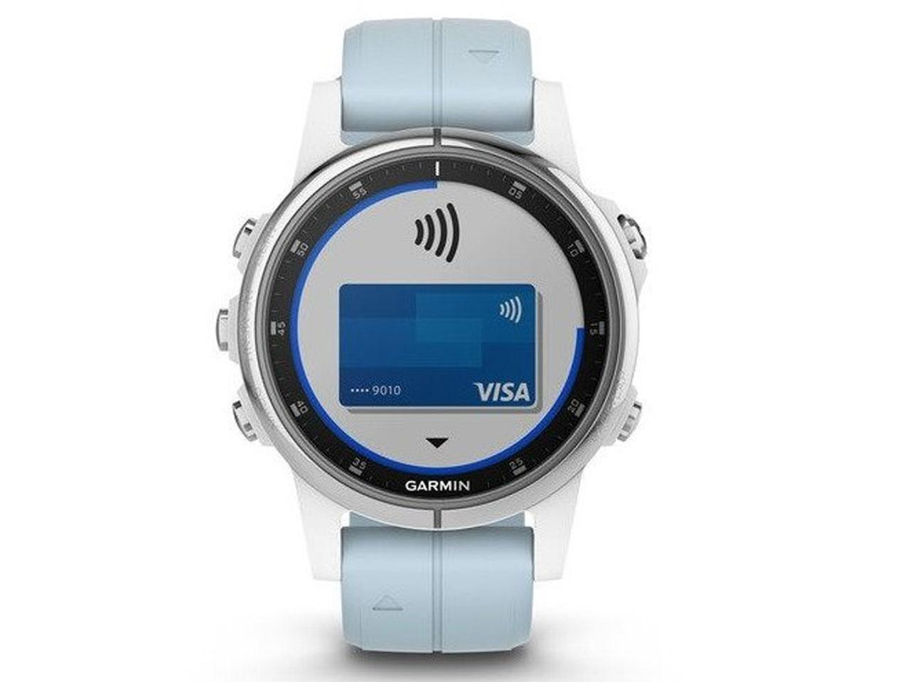 GARMIN Fenix5S Plus White, Seafoam Band + 500 Kč na dárky nebo další nákup | CHAT on-line podpora PO-NE do 23 hodin!!