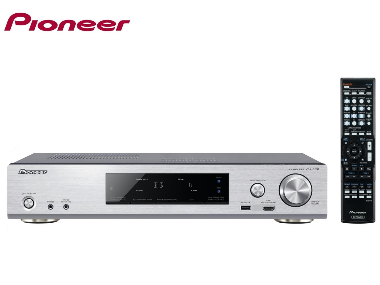 PIONEER VSX-S510-S + 400 Kč na dárky nebo další nákup | CHAT on-line podpora PO-PÁ 8-22.00!!
