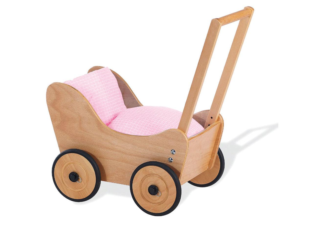 Kočárek pro panenky PINOLINO Doll Pram Sarah, dřevěný