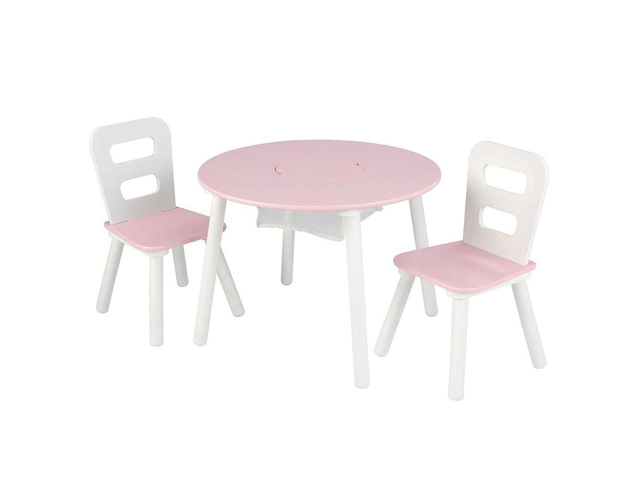Set stůl a 2 židle KIDKRAFT, růžovobílý