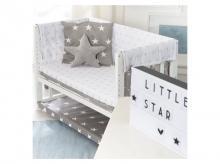 Postýlka s textilní výbavou ROBA Little Stars 3v1, bílá