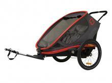 Cyklistický vozík HAMAX Outback 2in1, šedá/červená/černá + AKCE CASHBACK 10%
