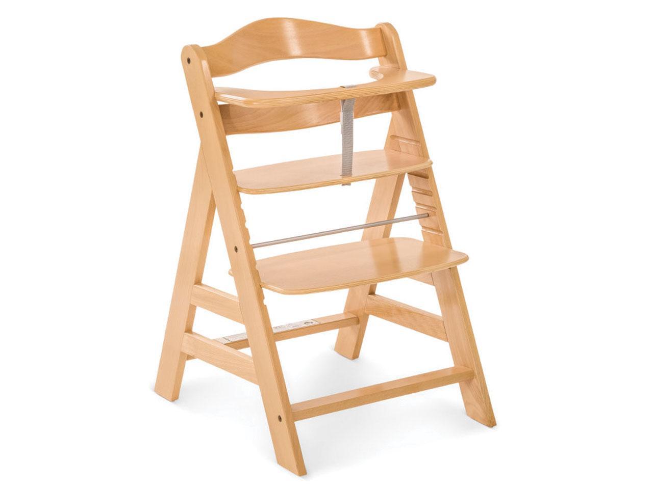 Jídelní židlička HAUCK Alpha+, dřevěná, přírodní