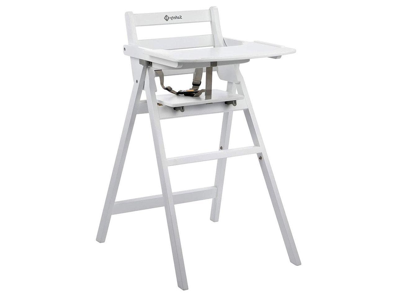 Jídelní židlička SAFETY 1ST skládací dřevěná Nordik, bílá