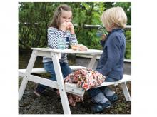 Dětská venkovní pikniková souprava ROBA Picnic pro 4, šedá
