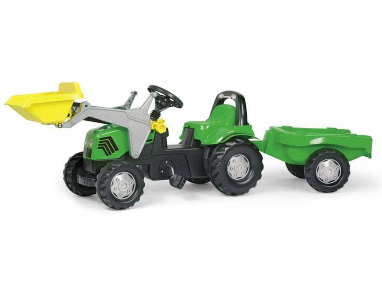 Šlapací traktor s nakladačem a přívěsem ROLLY TOYS Deutz-Fahr