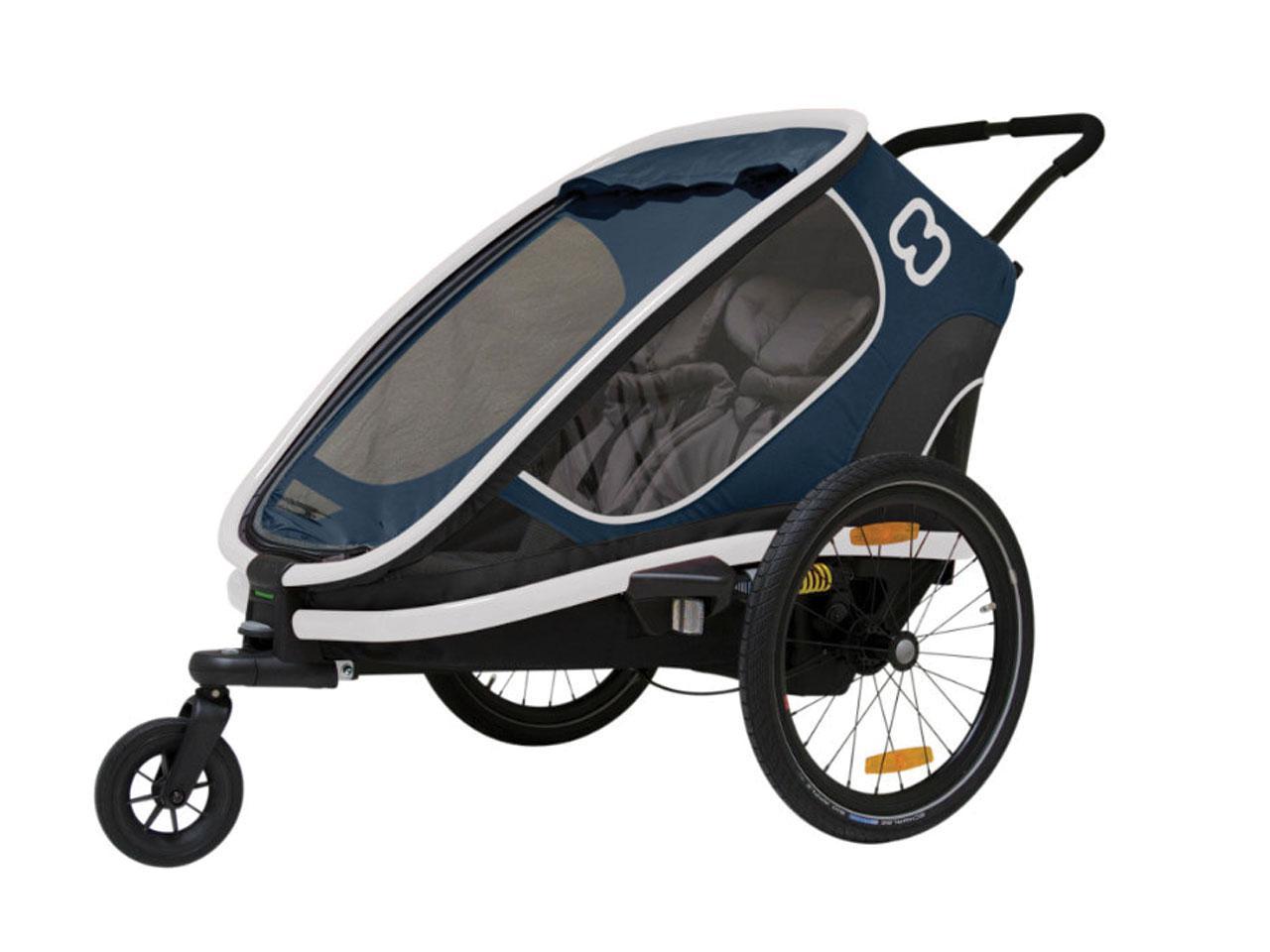 Cyklistický vozík HAMAX Outback 2in1, námořnická blue + AKCE CASHBACK 10%