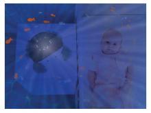 ZAZU Krab Cody projektor oceánu s melodiemi