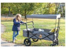 Přepravní vozík PINOLINO Piet Comfort s brzdou, šedý melír