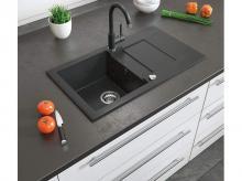 Kuchyňský dřez BERGSTRÖM granitový vestavný, černá