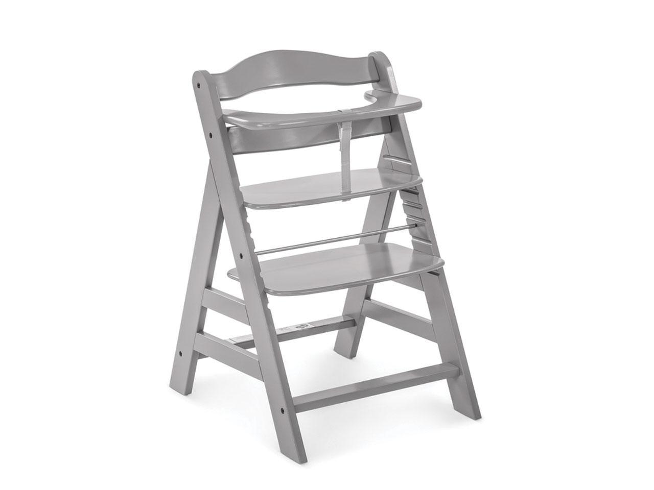 Jídelní židlička HAUCK Alpha+, dřevěná, šedá
