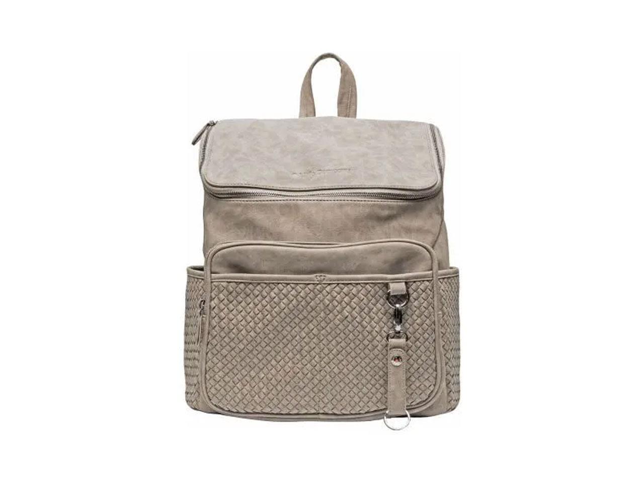 Přebalovací batoh LITTLE COMPANY Lisbon Braided, šedo-hnědý