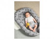 Hnízdečko pro miminko JOLLEIN Tiger, šedá