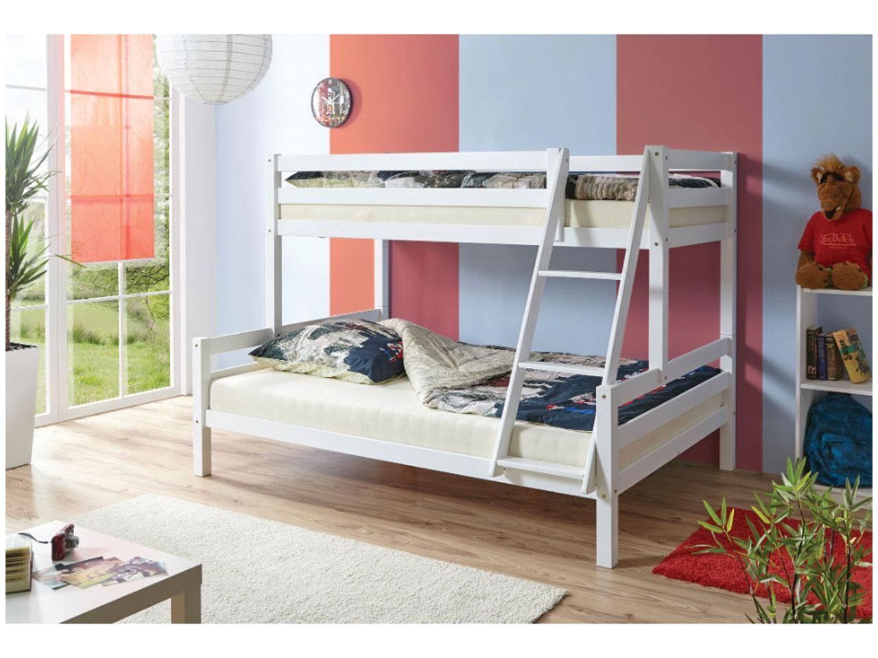 Patrová postel TICCA Maxim, bílá
