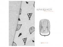 Kojenecké lehátko HAUCK Alpha Bouncer Premium, nordic grey