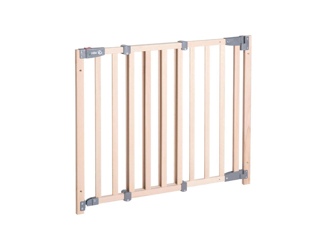 Zábrana do dveří ROBA Safety Up, 70-118,5 cm, hnědá