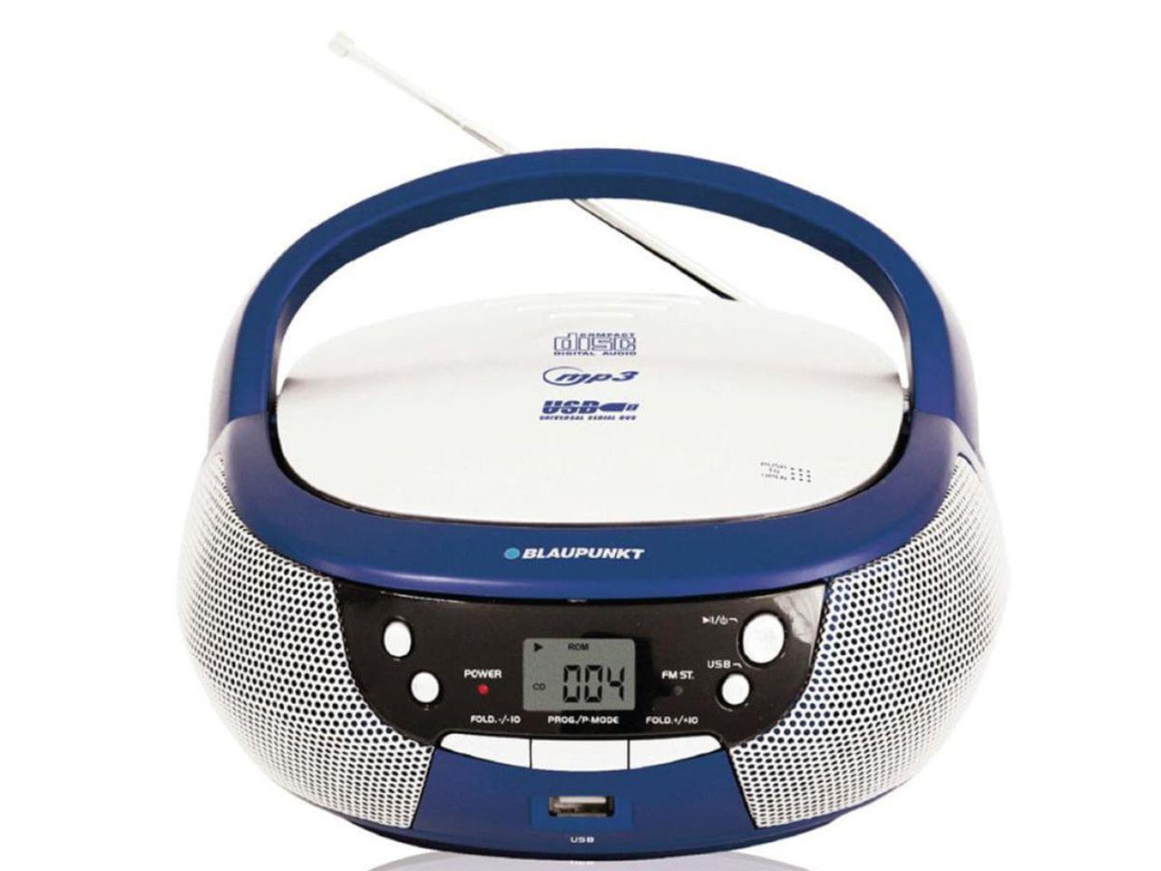 CD přehrávač BLAUPUNKT Boombox s CD a USB, modrý