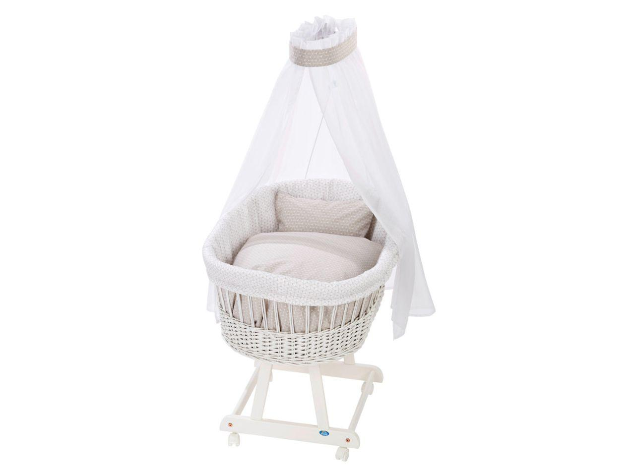 Košík pro miminko s ložní sadou ALVI Birthe, bílý
