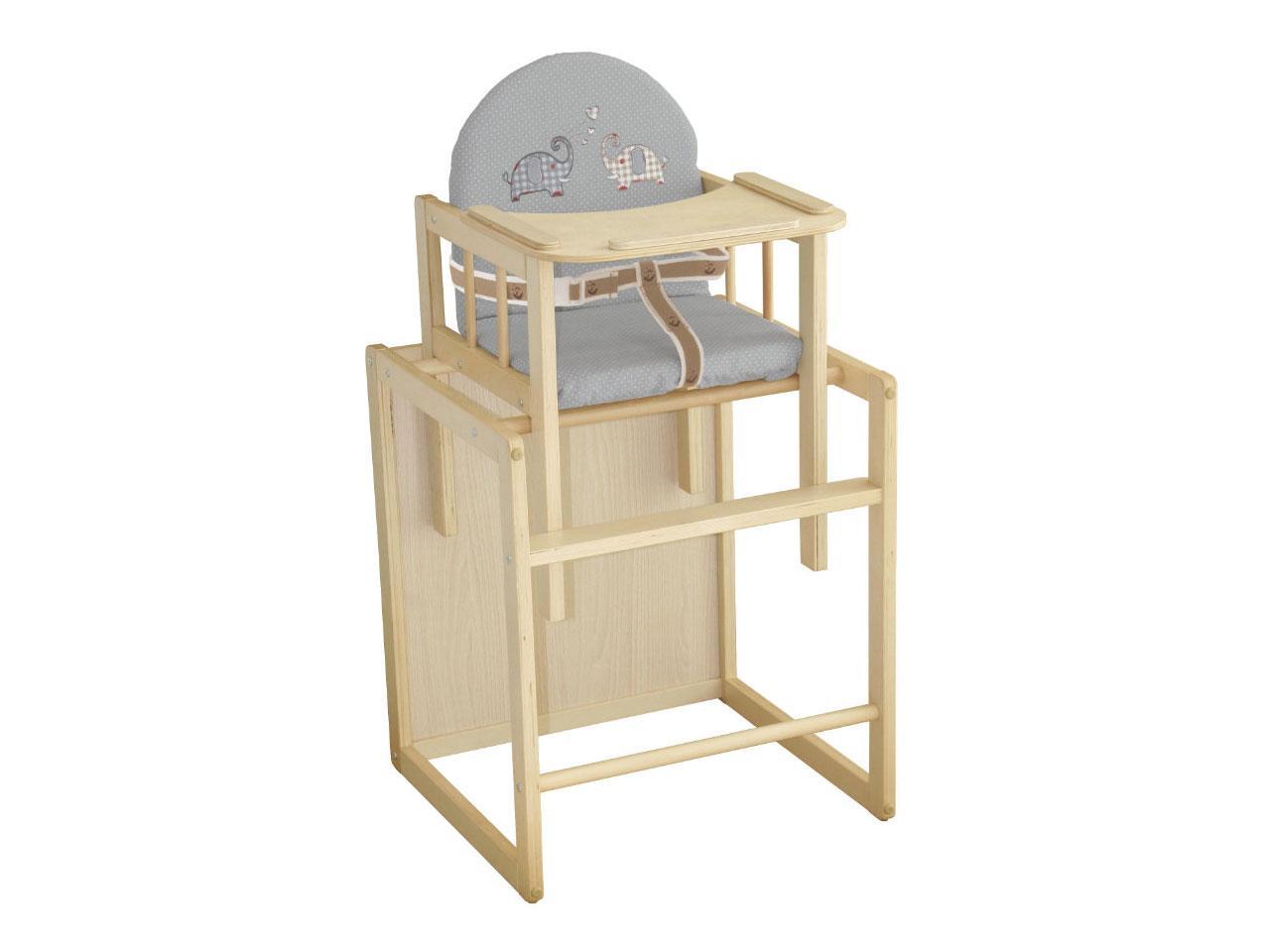 Jídelní židlička ROBA Jumbotwins kombinovaná, přírodní
