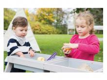 Dětská pikniková souprava ROBA Outdoor Deluxe s vaničkami, šedá