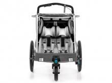 Cyklistický vozík QERIDOO KidGoo 2 Sport, grey + AKCE CASHBACK 10%