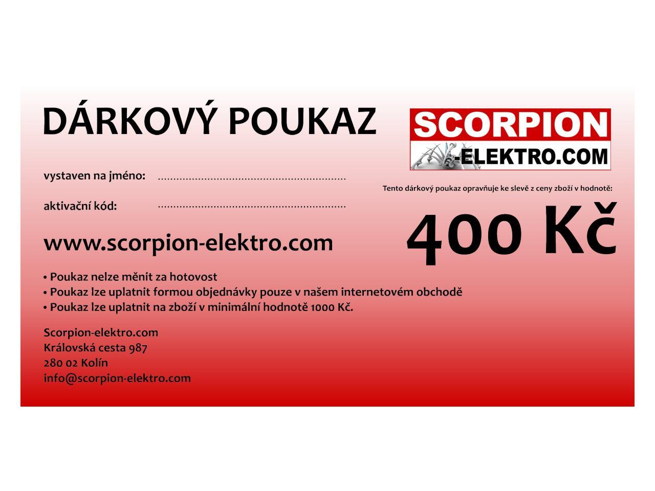 Dárkový poukaz 400 Kč