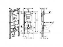 Montážní prvek pro závěsné WC GEBERIT Duofix UP320 (111.300.00.5)