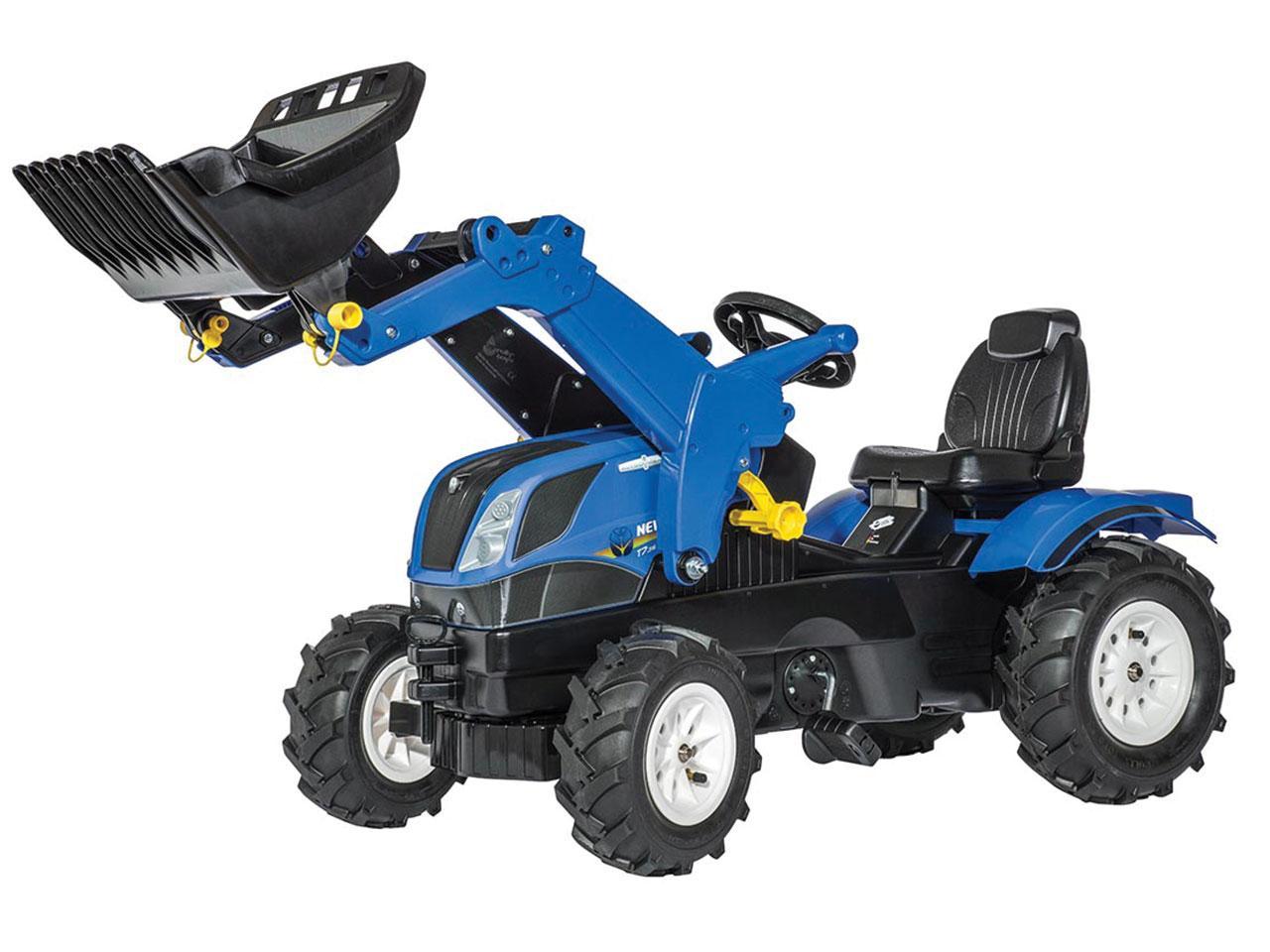 Šlapací traktor ROLLY TOYS Farmtrac New Holland s čelním nakladačem a pneumatikami