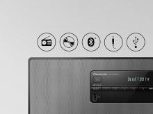Stereo systém PANASONIC SC-DM504EG-K