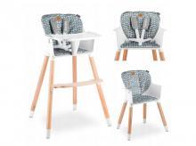 Jídelní židlička LIONELO Koen Grey/Yellow