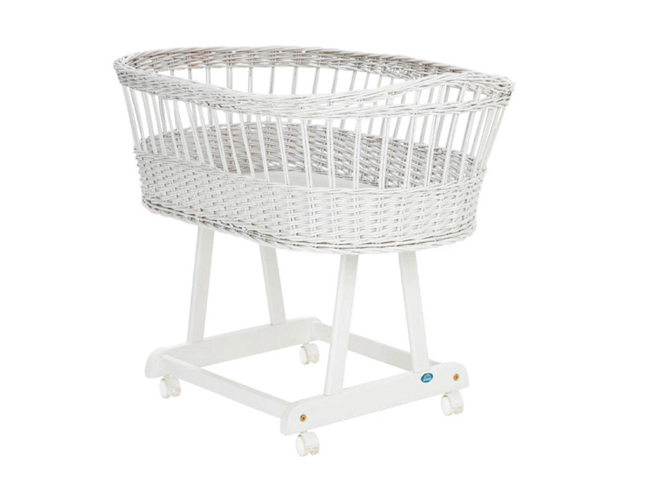 Košík pro miminko s ložní sadou ALVI Birthe 323-6, bílý, slon béžová